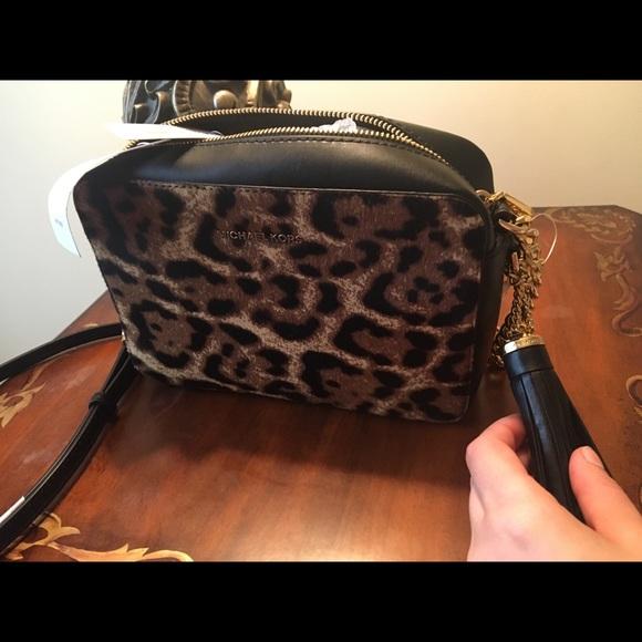 ada1d2cbe6da Michael Kors Bags | Leopard Camera Crossbody Bag | Poshmark